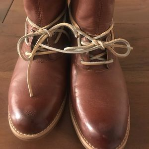 Women Timberland Brown Leather Ankle Boots Size 11